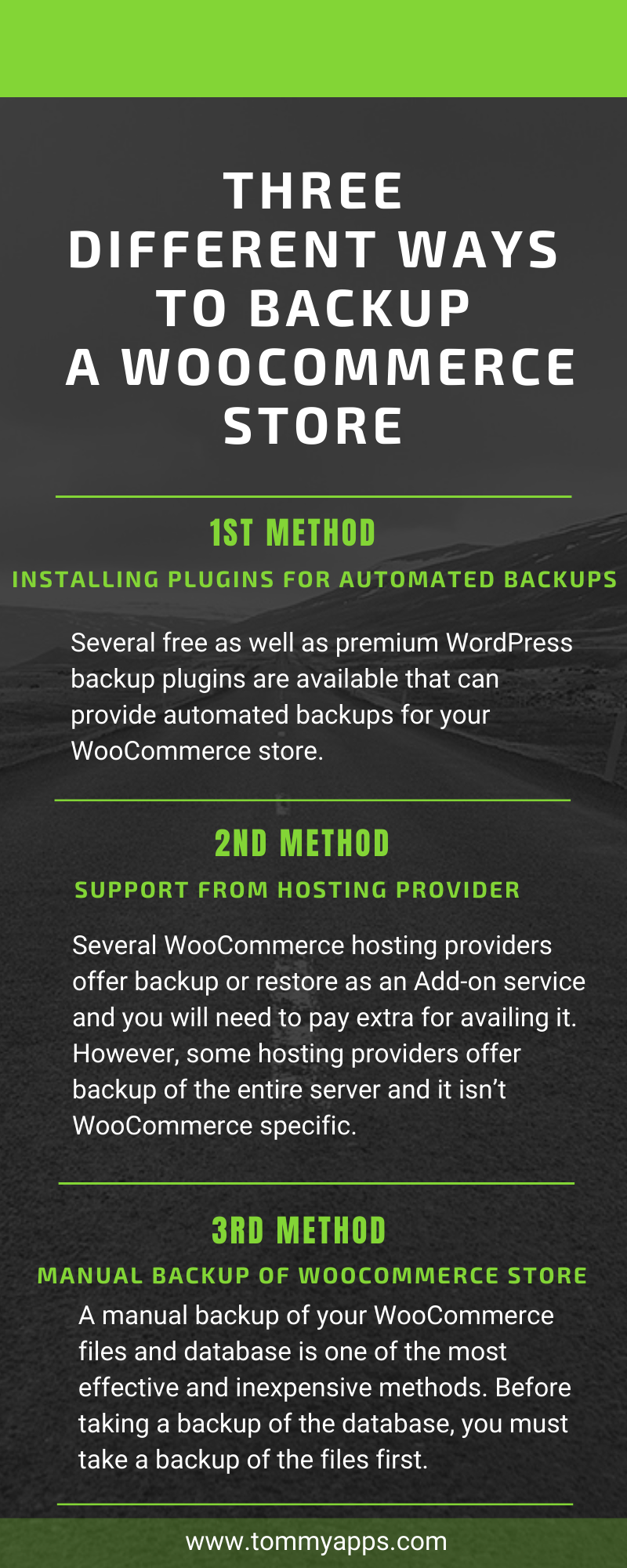 three different ways to backup a WooCommerce store