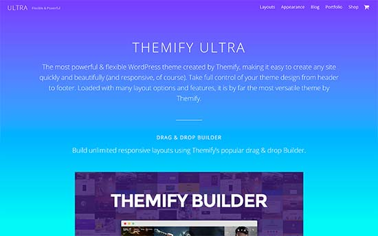 Ultra-creative-one-page-wordpress-theme