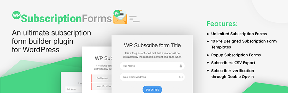 WP Subscription Forms