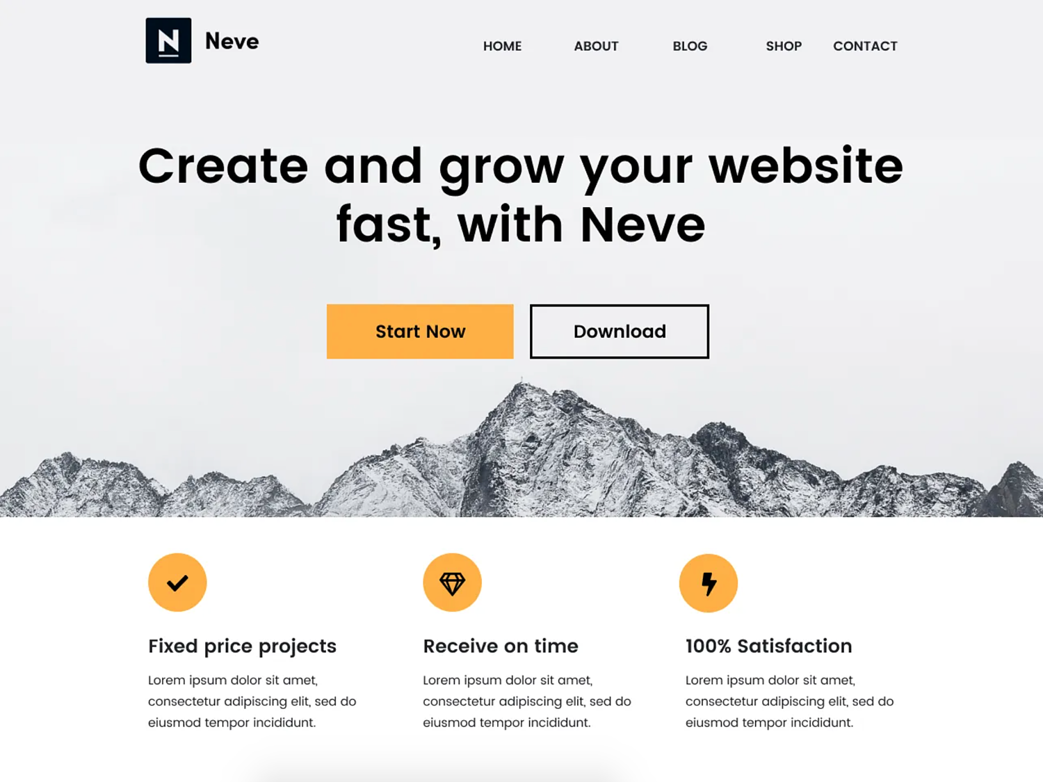 neve-one-page-wordpress-themes