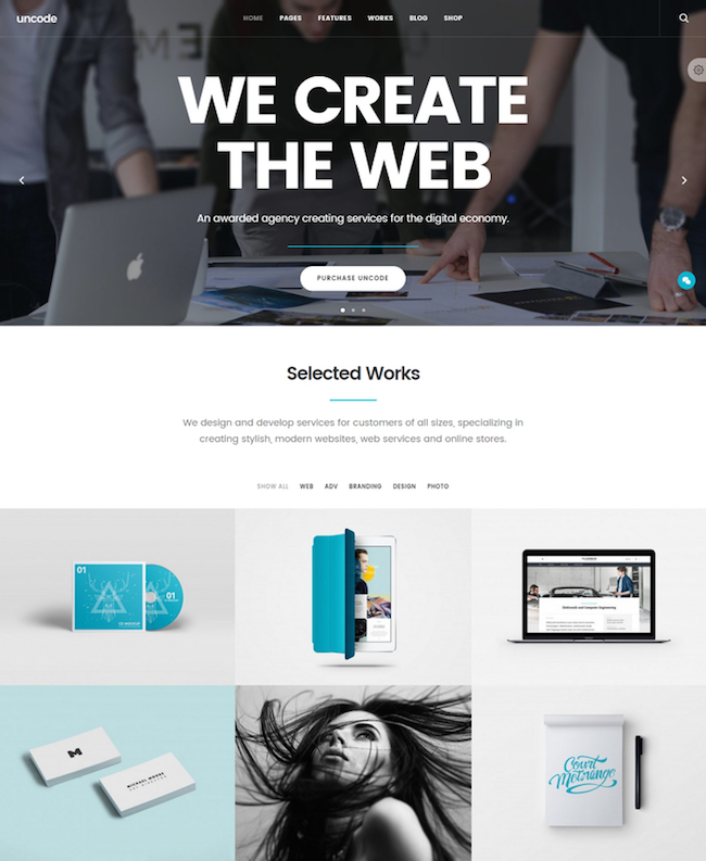 uncode-creative-one-page-wordpress-theme