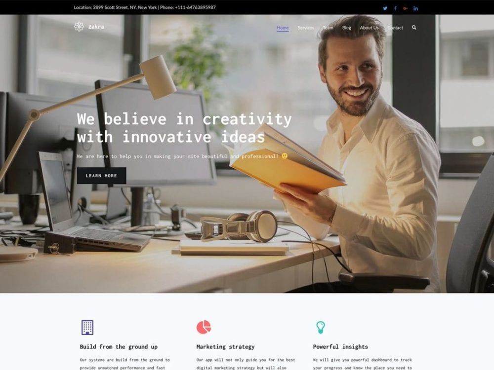 Zakra Free wordpress theme