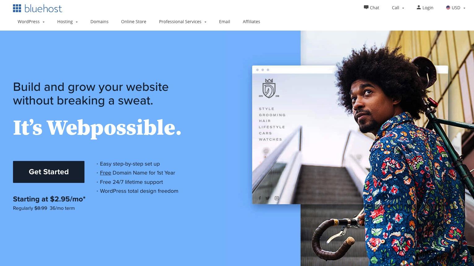 Bluehost-domain registrar