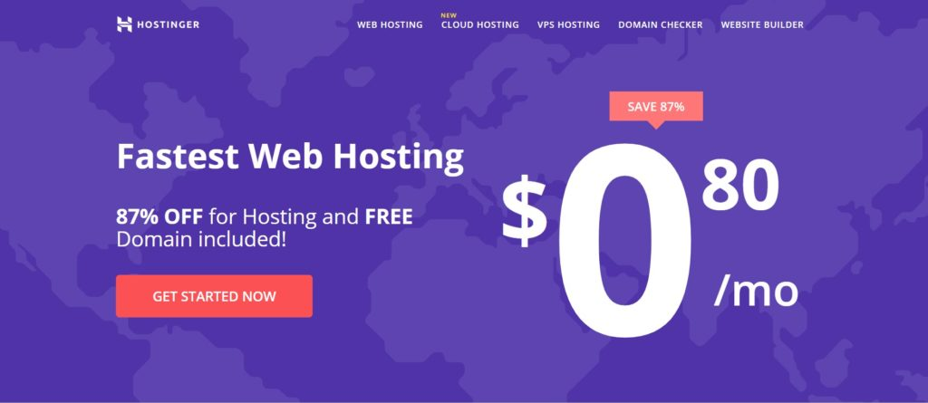 Hostinger free web hosting